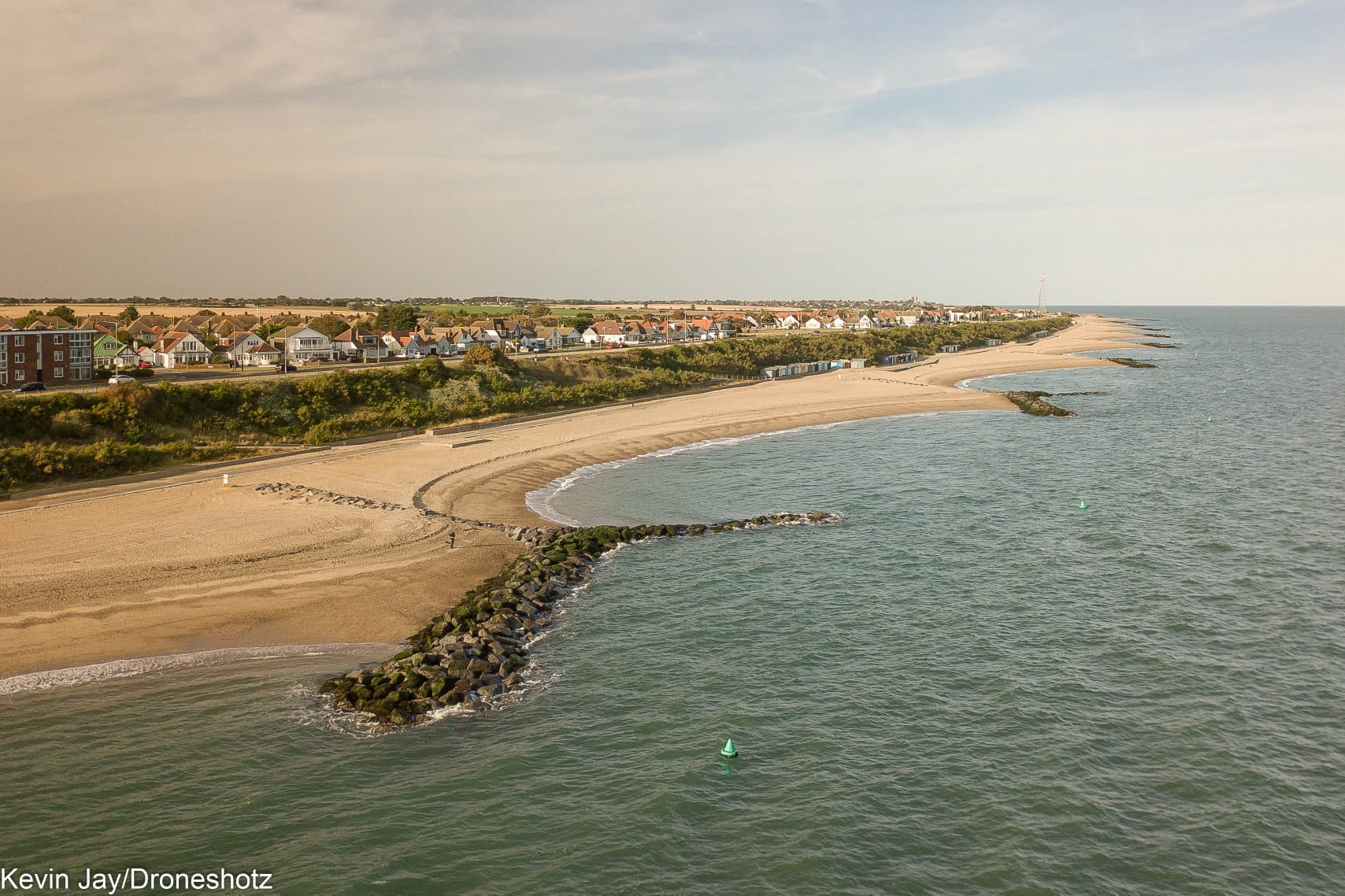 Arial View of Coastline - Holland on Sea